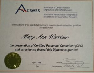 Certified Personnel Consultant